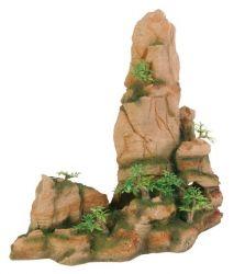 Dekorace skála + jeskyň a rostliny 45 cm
