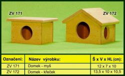 Domek pro myš-dřevo