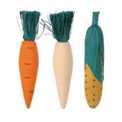 Dřevěná okusovací zelenina 10cm (3ks) TRIXIE