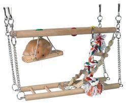 Houpačka do klece - dvě patra+ hračky 27x16x10cm TRIXIE