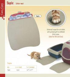 Podložka MIMI pod WC pro kočky, mikrovlákno 38x60 cm šedá