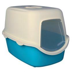 WC VICO kryté s dvířky, bez filtru 56 x 40 x 40 cm,  - tyrkysově/bílá