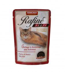 ANIMONDA kapsa Rafiné Soupé Adult - drůbež+králík+šunka 100g
