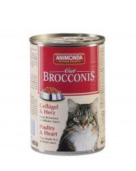 ANIMONDA konzerva BROCCONIS -kuře, srdce pro kočky 400g