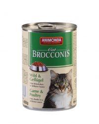 ANIMONDA konzerva BROCCONIS -zvěřina, drůbež pro kočky 400g