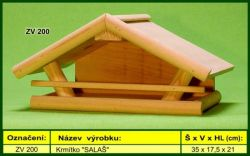 Krmítko SALAŠ - venkovní, dřevěné