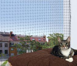 Ochranná síť pro kočky 2x1,5m,  - černá