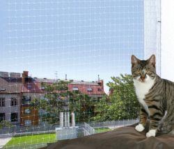 Ochranná síť pro kočky 4x3m,  - transparentní