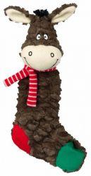 Vánoční ponožka OVCE, OSEL šustící 32 cm
