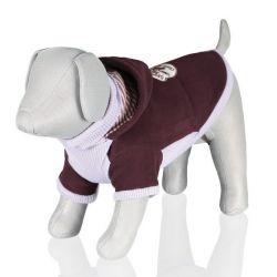 .Fialový svetr Sanremo s kapucí M 45 cm - DOPRODEJ