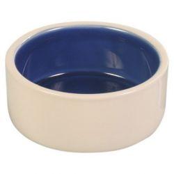 Keramická miska malá 0,35l/12 cm - bílá/modrá