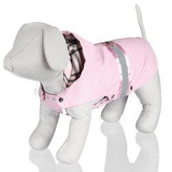 Růžová vesta COMO s kapucí S 33 cm