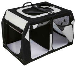 Transpor.nylon. box Vario DOUBLE 91x60x61/57 cm černo-šedý