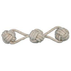 DentaFun zauzlované míče na bavlněném laně 8 cm/37 cm