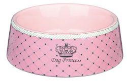 DOG PRINCESS - keramická miska růžová 1 l/20 cm