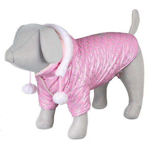 ,Lesklá bundička DOG PRINCESS růžová XXS 21cm DOPRODEJ Trixie