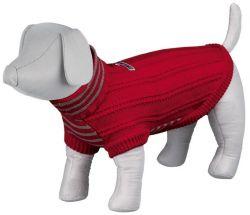 -Pletený svetr s rolákem PIAVE červený XS 18 cm DOPRODEJ