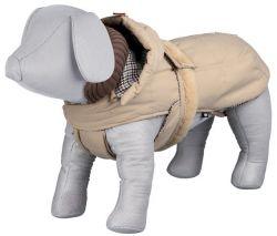 ,Zimní kabát BRIANZA béžový,kapuce,zateplený XL 65cm DOPRODEJ