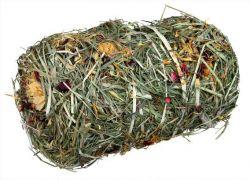 Natur Snack -přírodní váleček ze sena s květy pro hlod. 200g