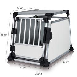 Transportní klec - hliníkový rám, pevné panely 48x57x64 cm