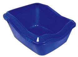 WC s okrajem, zvýšená zadní část 45x21(29)x54cm,  - bílo/aquamarin DOPRODEJ