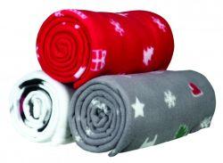 Flízová vánoční deka YUKI 100x150 - 3 barvy