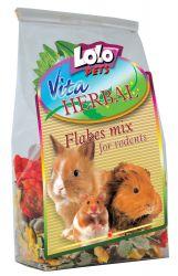 LOLOPets VITA HERBAL mix vloček pro hlodavce 150g