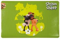 Ovečka Shaun prostírání pod misky,zelená s postavami 44x28cm