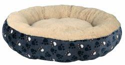 Pelíšek kulatý TAMMY, chlupatý uvnitř 70 cm modro/béžový