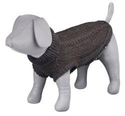 !Pletený svetr LANGLEY hnědý XXS 18 cm DOPRODEJ