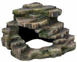 Rohová skála s jeskyní - pouštní prales  26x20x26 cm
