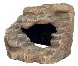 Rohová skála s jeskyní -  pouštní step  21x20x18 cm