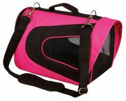 ALINA bag, nylonová přepravní taška se síťkou 27x27x35 cm,  - růžovo/černá max.5 kg