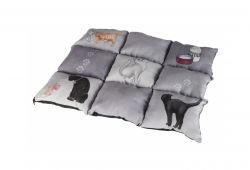 Barevná měkká podložka PATCHWORK kočka 55 x 45 cm šedá