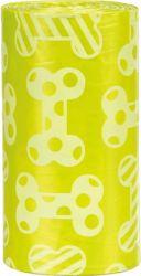 Náhradní sáčky žluté na trus M s vůní citrónů(4 role á 20ks)