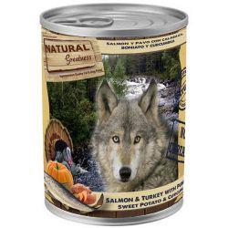 Natural Greatness losos,krůta,dýně,sl.brambor pro psy 400 g