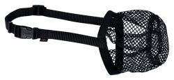 Ochranný náhubek polyester síťka S-M černý, 22 cm/18-40 cm