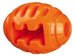 Soft Strong rugby míč TPR termoplastová guma 10 cm oranžový