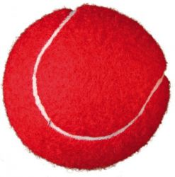 Tenisový míč barevný 6 cm, baleno v síťce [2ks/bal]