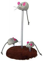 Myší rodinka na pružině 15 x 22 cm