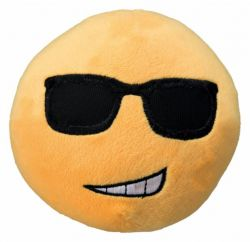 Plyšový SMAJLÍK velký 14 cm žlutý,  - smíchy brečící
