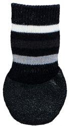 Protiskluzové ponožky černé XS-S, 2 ks pro psy bavlna/lycra