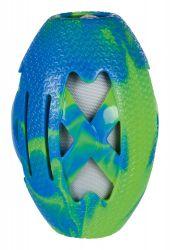 Rugby míč plněný, termoplastová guma TPR/látka 15 cm