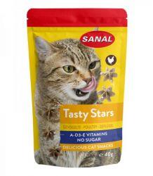 SANAL Cat Tasty Stars Poultry - hvězdičky s př. drůbeže 40 g