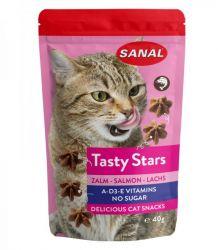SANAL Cat Tasty Stars Salmon-hvězdičky s příchutí lososa 40g