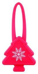 Vánoční silikonový stromeček blikátko pro psy 7 cm