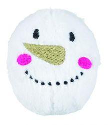 Vánoční sněhové míčky, plyšové, se zvukem 10 cm