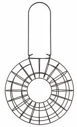 Závěsný kruh na 8 lojových koulí 24 x 8 cm, kovový