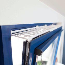 Ochranná mřížka do okna horní 75-125 cm/16 cm bílá
