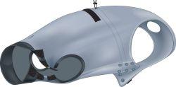 Ochranný obleček na trup po operaci XS 25 cm šedý